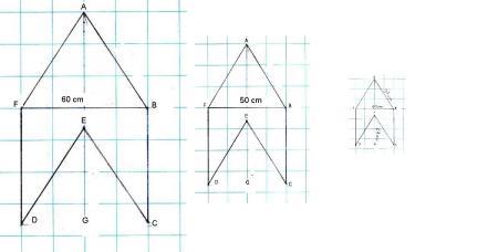 I tre aquiloni mantengono le proporzioni